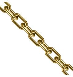 metal golden chain 3d vector image