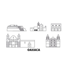 mexico oaxaca line travel skyline set mexico vector image