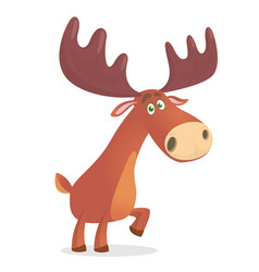 Mighty and beautiful moose vector