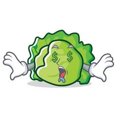 Money eye lettuce character mascot style vector