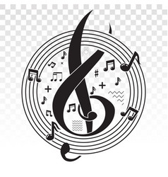 Musical scale symbol or notes vector
