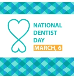 National dentist day March 6 poster vector image