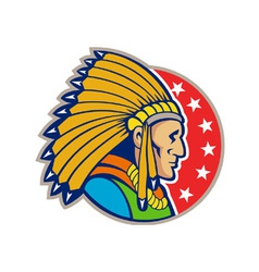 Native American Indian Headgear Side vector image