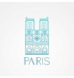 Notre Dame de Paris Cathedral France Hand vector