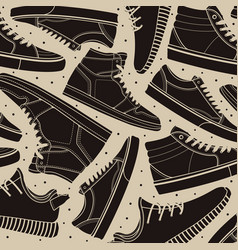 pattern shoes sneakers classic vector image