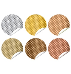perforated stickers vector image
