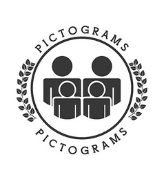 Pictograms icons vector
