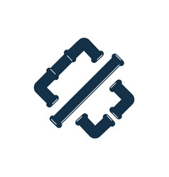 pipe logo icon design template vector image