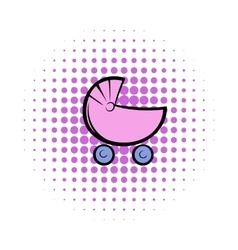 Pram comics icon vector