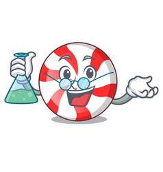 Professor peppermint candy character cartoon vector