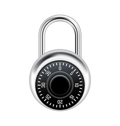 realistic combination lock vector image