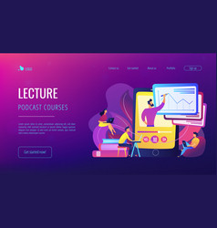 recorded classes concept vector image