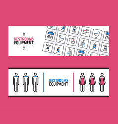 restroom equipment supply banner vector image