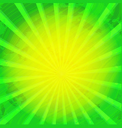 Retro vintage green-yellow rays background with vector