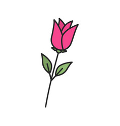 Rose flower color icon vector