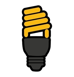 Saver bulb isolated icon design vector