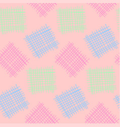 seamless pattern in pastel tones hand drawn vector image