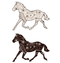 Set of browns horses vector image