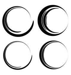 set of sketchy scribble circles vector image