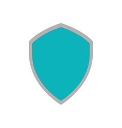 Shiled protection system technology icon vector