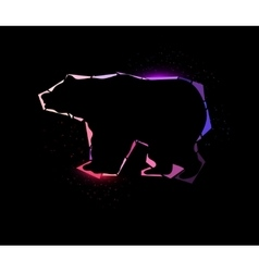 Shining bear vector image