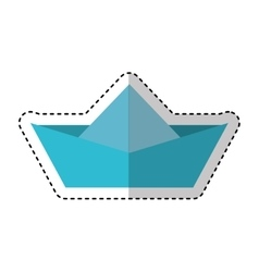 ship paper toy icon vector image