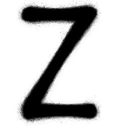sprayed Z font graffiti in black over white vector image