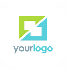 square color shape logo vector image