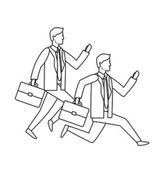 successful businessmen avatar cartoon vector image