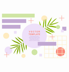 summer art web banner template with a palm leaves vector image