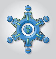 teamwork generates ideas vector image