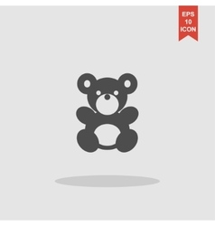 Teddy bear plush toy flat icon vector image