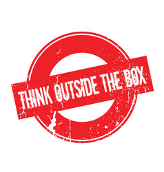 Think Outside The Box Rubber Stamp Royalty Free Vector Image