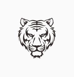 tiger head face logo icon template vector image