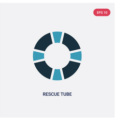 Two color rescue tube icon from people skills vector