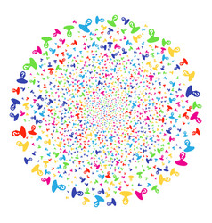 Unknown person decoration round cluster vector