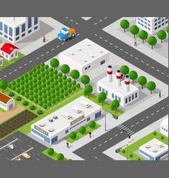 Urban architecture intelligence vector
