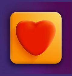 valentines heart design background vector image