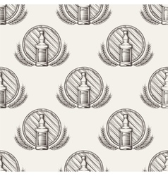 Whisky seamless pattern vector image