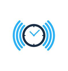 Wifi time logo icon design vector