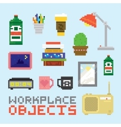 Workplace objects set vector image