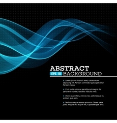 Abstract blue shining wave background vector image vector image