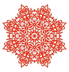 Abstract Flower Mandala Decorative element for vector image vector image