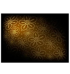 Brown Vintage Wallpaper with Flower Pattern vector image vector image