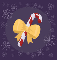 christmas candy flat vector image vector image