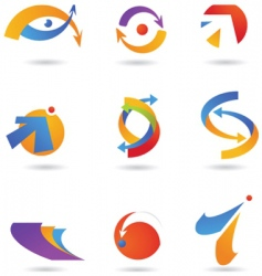 abstract icons and logos vector image