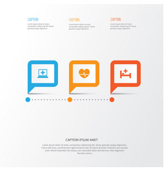 antibiotic icons set collection of tent rhythm vector image vector image