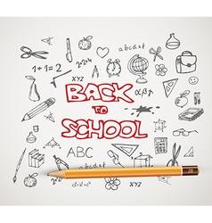 Back to school - set of school doodle vector image