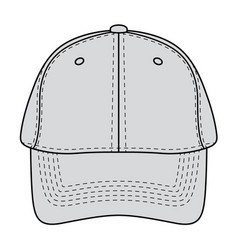baseball hat front view vector image vector image