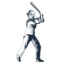 baseball player icon vector image